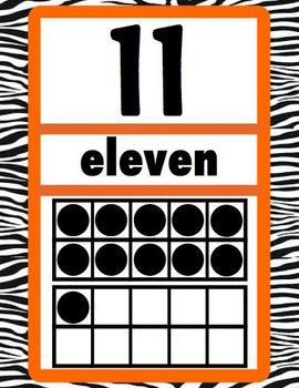 Ten Frame Number Cards 0 - 20