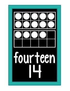 Ten Frame Number Cards 0-20 {Black Series}