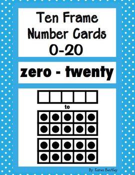 Ten Frame Number Cards 0 - 20 Bright Polka-Dot