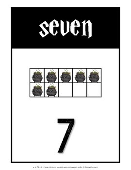 Ten Frame Number Cards 0-20 {Wizardry Theme}