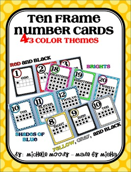 Ten Frame Number Cards 1-20