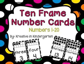 Ten Frame Number Cards 1-20