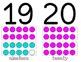 Ten Frame Number Cards 1-20 (Pink, Purple, Teal)