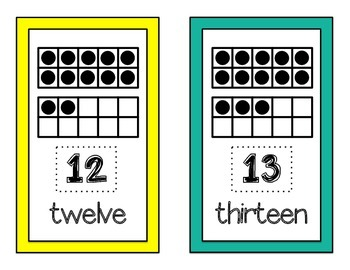 Ten-Frame Number Cards