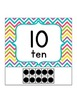 Ten Frame Number Chart Posters {Chevron Brights}