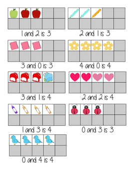 Ten Frame Number Combination Cards