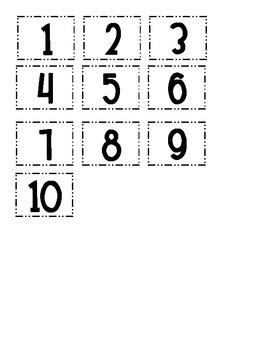 Ten Frame Number Combinations