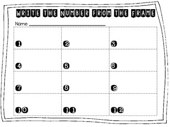 Ten Frame Number Identification