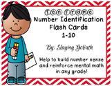 Ten Frame Number Identification Flash Cards 1-10