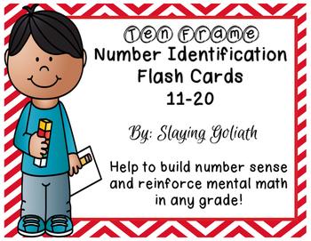 Ten Frame Number Identification Flash Cards 11-20