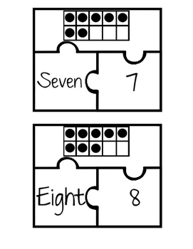Ten Frame Number Identification Math Puzzle