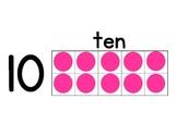 Ten Frame Number Line 0 to 20