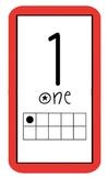 Ten Frame Number Line Bulletin Board 1-20