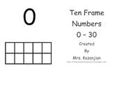 Ten Frame Number Line to 30