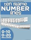 Ten Frame Number Lines (0-20)
