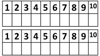 Ten Frame Number Lines