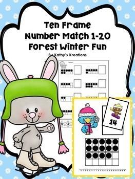 Ten Frame Number Match 1-20  BUNDLE
