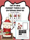 Ten Frame Number Match 1-20 Christmas Smores
