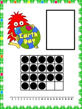 Ten Frame Number Match 1-20 Earth Day Monsters