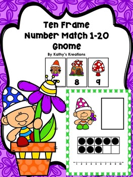Ten Frame Number Match 1-20 Gnomes
