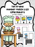 Ten Frame Number Match 1-20 Little Bakers