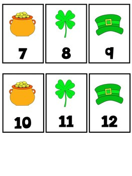 Ten Frame Number Match 1-20 St. Patrick's Day