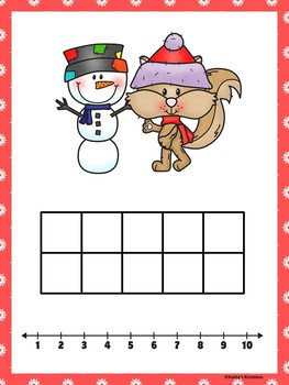 Ten Frame Number Match 1-20  Winter Fun