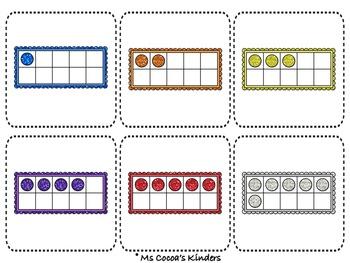 Ten Frame Number Match Game