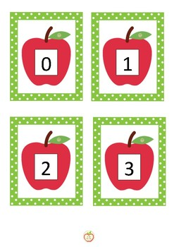 Ten Frame Number Match Apple Theme