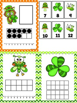 Ten Frame Number Match St. Patrick's Day