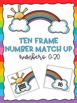 Ten Frame Number Match Up: Numbers 0-20