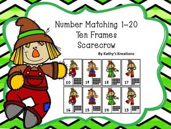 Ten Frame Number Matching 1-20 Scarecrows