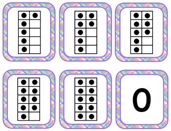 Ten Frame & Number Matching Cards