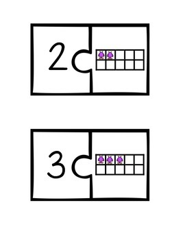 Ten Frame Number Matching Puzzle With Monsters