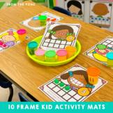 Ten Frame Number Play Dough Mats