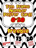 Ten Frame Number Poster Cards 0-20 {FREEBIE}