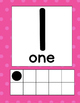Ten Frame Number Poster (words)