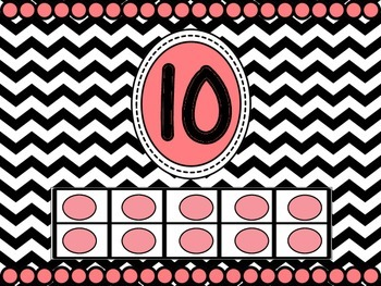 Ten Frame Number Posters 0-10