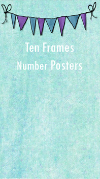 Ten Frame Number Posters # 0-10
