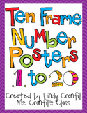 Ten Frame Number Posters {Purple Chevron}