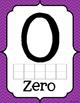 Ten Frame Number Posters {Purple Chevron}