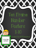 Ten Frame Number Posters 1-10