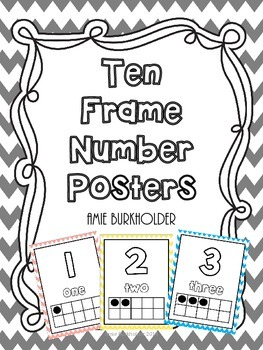 Ten Frame Number Posters