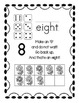 Ten Frame Number Posters Black and White Flowers