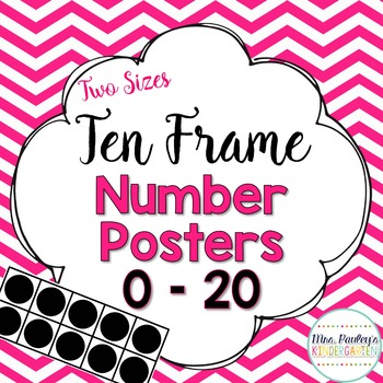 Ten Frame Number Posters {Bright Chevron}