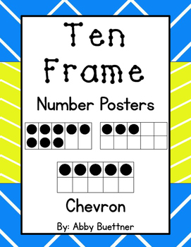Ten Frame Number Posters Chevron