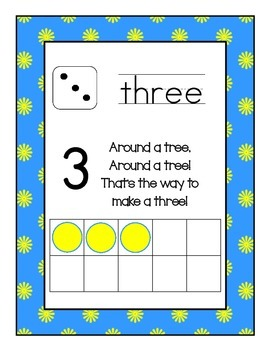 Ten Frame Number Posters Fun Flowers