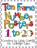Ten Frame Number Posters {Gray Polka Dot}
