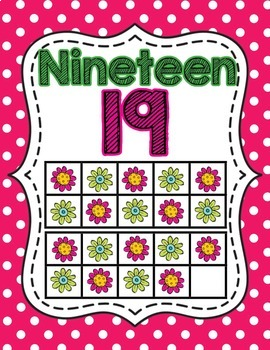 Ten Frame Number Posters- Pink and Green