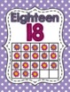 Ten Frame Number Posters- Pink and Purple